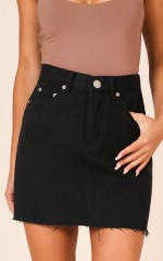 Just Like Smoke Skirt in Black