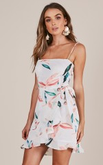Living The Dream dress in white floral
