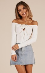 Longing For You top in white