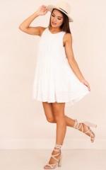 Love Aint Easy dress in white