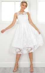 Mad Tea Party dress in white