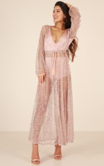Made Of Stars maxi dress in rose gold