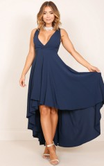 Magical Moment maxi dress in navy
