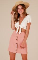 Make It Back skirt in mocha