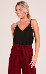 Merger top in black