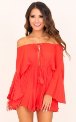 Montana playsuit in red