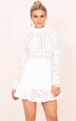More Intense dress in white