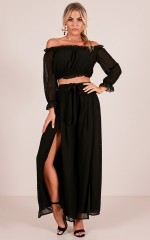 Needed You Here two piece set in black