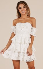 Not Fiction dress in white lace