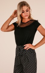 On The Dot top in black