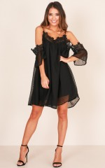 One For The Lovers dress in black