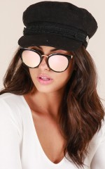 One More Chance sunglasses in black and pink