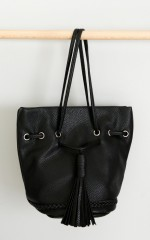Pied Piper bag in black leatherette