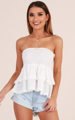 Practice top in white