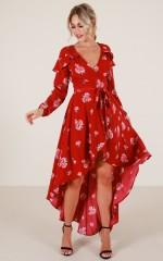 Break Free Maxi Dress in Wine Floral