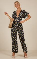Midnight City jumpsuit in navy floral