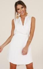 Wild Fire dress in white linen look