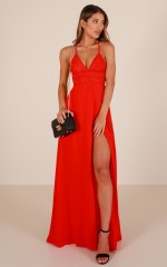 Running Free maxi dress in red