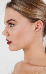 Silver Springs ear climber set in silver