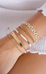 Small And Delicate 5pc bracelet set in gold