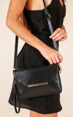 So Good To Me clutch bag in black