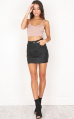 Stole My Heart Skirt in black