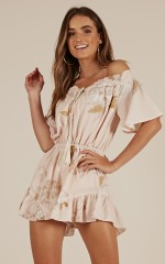 Sweet Lily playsuit in blush floral