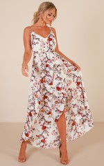 Thank Me Later dress in white floral