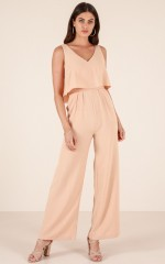 The leader jumpsuit in beige
