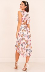 Tighten The Strings Dress in  Blush Floral