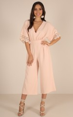 Soul Fly jumpsuit in blush