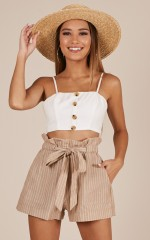 All Rounder shorts in beige stripe