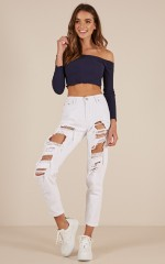Catherine mum jeans in white