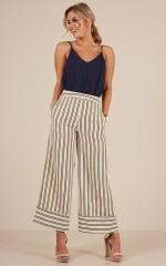 Memory Lane pants in beige stripe