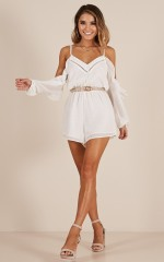 Take Time Out playsuit in white