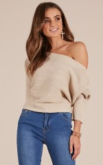 First Look knit top in beige