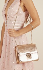 See The Stars bag in rose gold