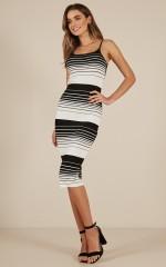 Pick Me Up dress in black stripe