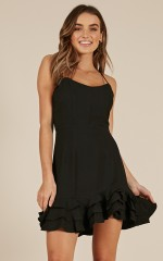 Make It Easy dress in black
