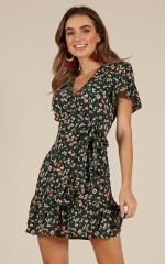 Longing For Life dress in green floral
