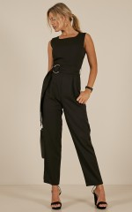On The Hunt jumpsuit in Black