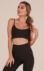 Railroad Crop Top in Black