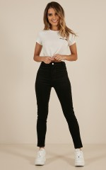 Wherever You Are jeggings in black cord
