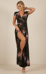 All Day Everyday Jumpsuit in Black Floral