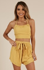 Dont Stop Me Now two piece set in mustard