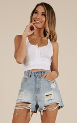 Rough Stuff denim shorts in Light Wash
