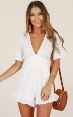 Sweet As Honey playsuit in white