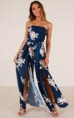 So Kiss Me jumpsuit in navy floral