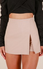 Mellow Out skort in taupe