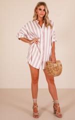 Shore Thing shirt in tan stripe